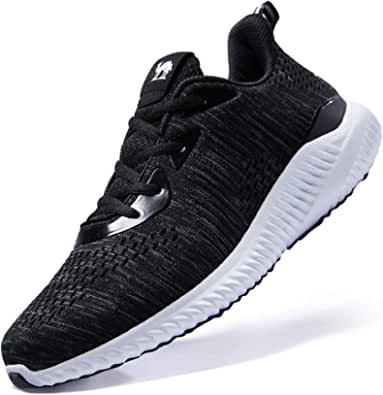 CAMELSPORTS Men's Running Shoes Lightweight Shockproof Walking Shoes Cushioning Men Sneakers for Gym Sports Casual Athletic Outdoor Black Size 10