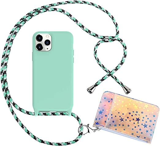 Adjustable Rope Green, iPhone 11 Pro HoldingIT Crossbody Phone Case with Detachable Lanyard Compatible with iPhone 11 2-in-1 Crossbody iPhone Cover with Drop Protection 11 Pro Max 11 Pro