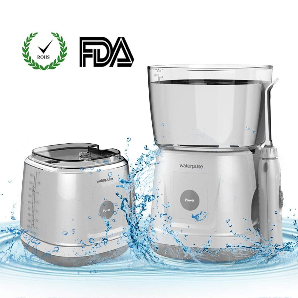 Waterpulse Water Flosser Waterpulse Rechargeable and Removable Dental Care Ultra Professional Household Teeth Cleaner Touch Screen 1000ml Large Capacity Tank for Travel Family Care.