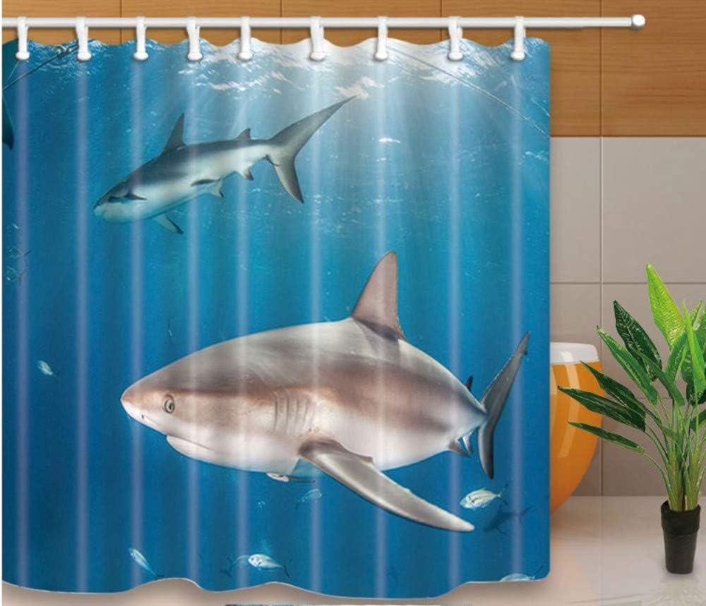 Yiciyici Dolphin Impreso Eco-Friend Baño Cortina Poliéster Lavado ...