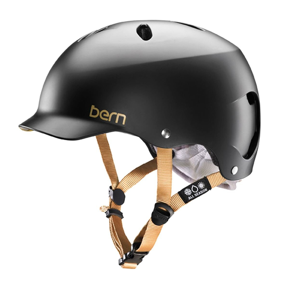 ベルン女子レノックスH2OヘルメットサテンブラックXS   B00O5GOELQ