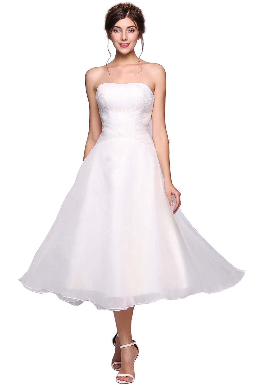 Elegant Lace Beach Simple Wedding Dresses Chiffon A Line Short