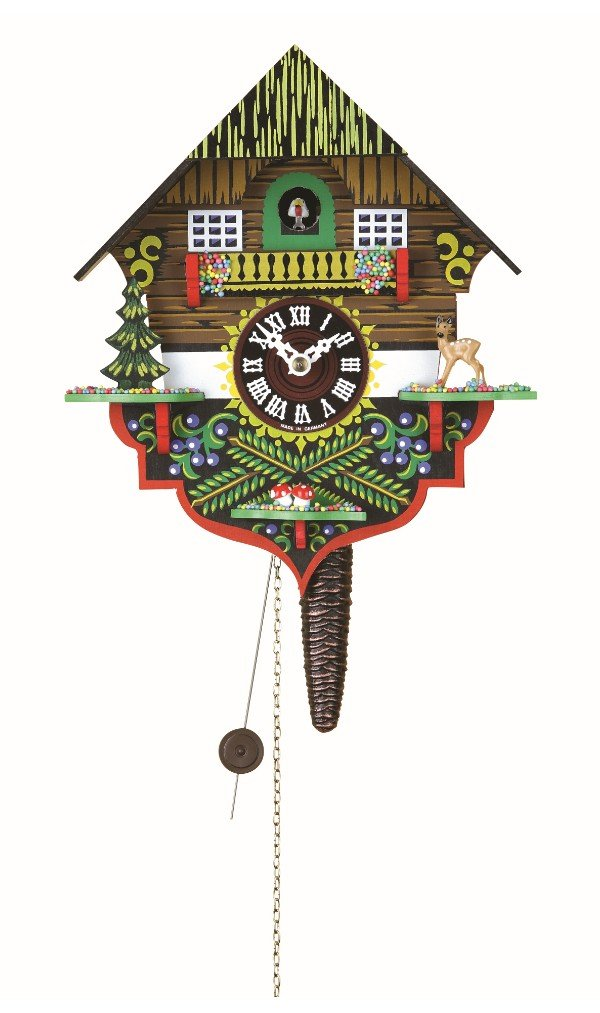Quarter call cuckoo clock with 1-day movement Black Forest House TU 618 Trenkle