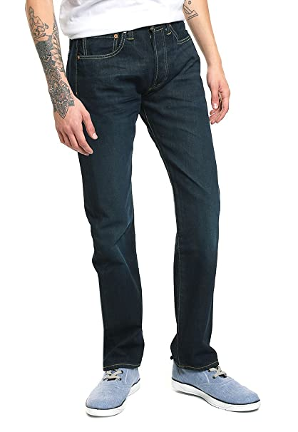 fd0af3f8 Levis- Jeans 501 Azul Marino Jeans para Hombre: Amazon.com.mx: Ropa ...
