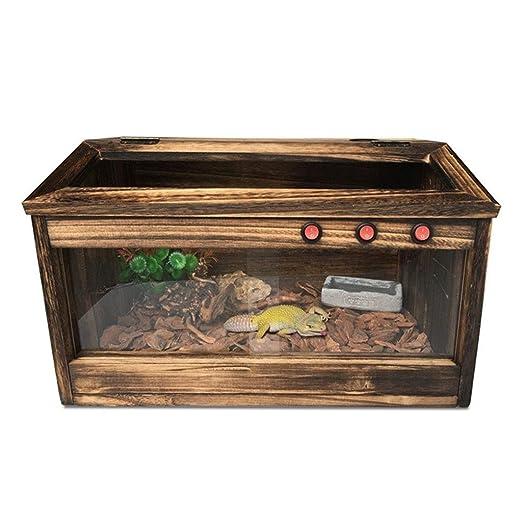 Jaula de alimentación for reptiles de madera, lagarto, camaleón ...
