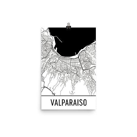 Amazoncom Valparaiso Print Valparaiso Art Valparaiso Map
