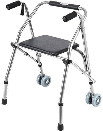 Accesorios para andadores con ruedas Caminadora Plegable Ajustable Ayuda Para Caminar Equipada Con Una Rueda Universal