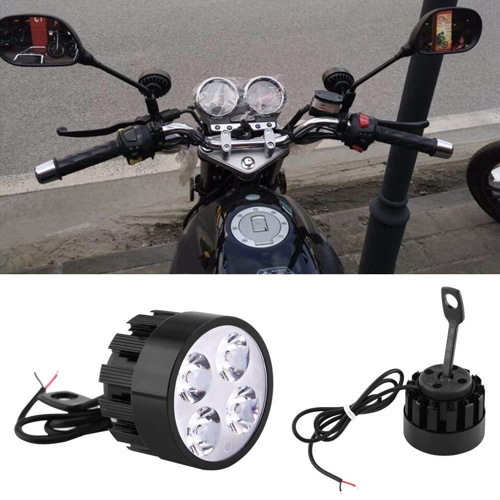 Motorcycle Spot lights 1 Pair Universal 12V Motorcycle Spotlights Led Headlights LED Driving Fog Spot Head Light Spotlight Lamp Scooter Spot Light Auxiliary Lights