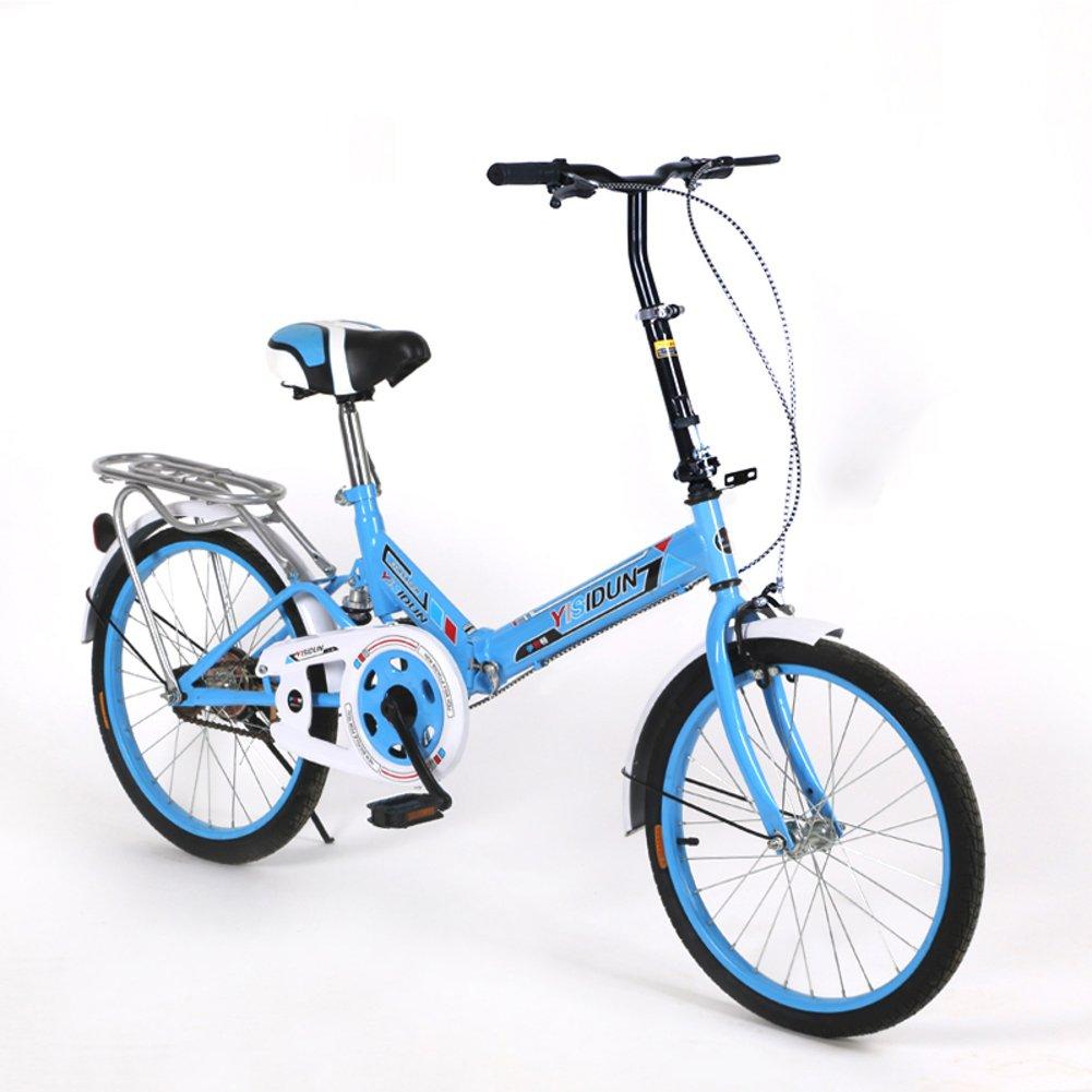 女性 折りたたみ自転車, 大人 折りたたみ自転車 女性自転車 男女 スタイル 学生の車 折りたたみ自転車 B07D2C6TPZ 20inch 青A 青A 20inch