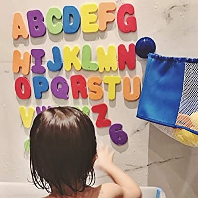 Xisheep Home Décor, Bathroom Products Foam Numbers Letters Card Bath Toy Bathroom Alphabet Toys Stick On Foam WallFoam Wall - Multicolor, for Home DIY: Sports & Outdoors