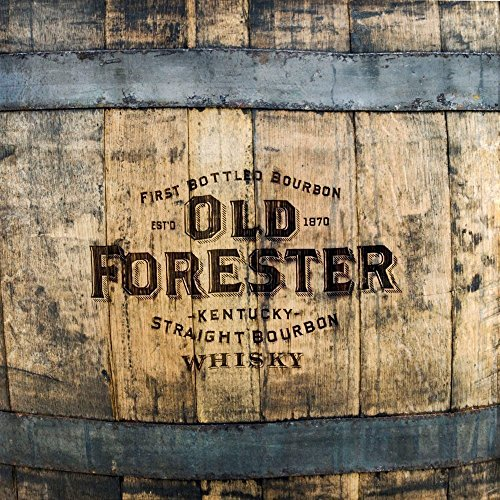 "Wood Wall Art Photography - Bourbon Themed Decor: Old Forester Barrels 11""x11"""