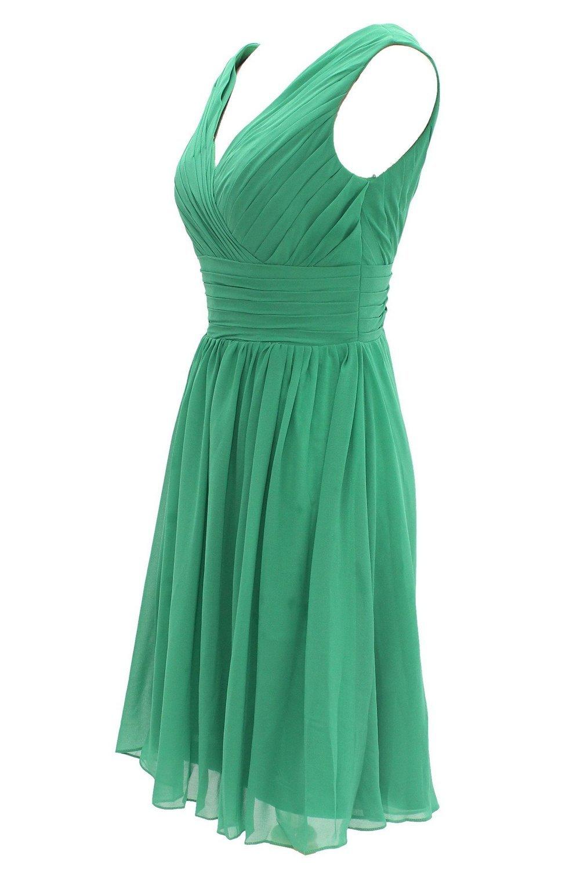 Ouman Short Bridesmaid Dress Chiffon Party Evening Dress at Amazon ...