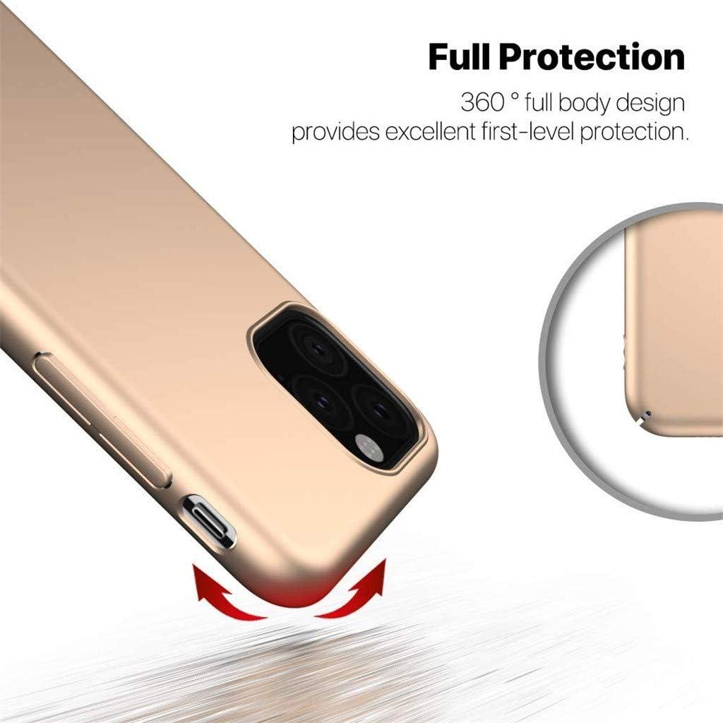 Sayla Compatible avec Iphone 11 Pro 5.8Inch Couleur Unie,/ÉTui De T/éL/éPhone Portable Tout Compris en Pc /à Trois Couches pour Injection De Carburant