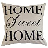 """18"""" X 18"""" Cotton Linen Square Throw Pillow Case Compass Decorative Sofa Cushion Cover - HOME SWEET HOME"""