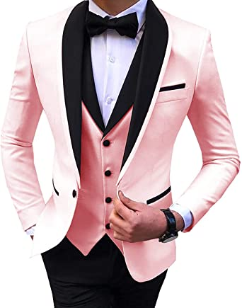 Dgmj Men Suits Slim Fit 3 Piece Formal Dress For Prom 2020 Mens Wedding Suits Tuxedo Xz080 At Amazon Men S Clothing Store