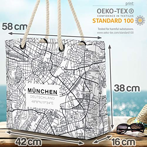 VOID mynt kort strandväska Shopper 58 x 38 x 16 cm 23 L XXL shoppingväska väska resväska Beach Bag