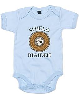 ad7df2ffd Vikings I raid with ragnar Baby Playsuit/Bodysuit: Amazon.co.uk ...