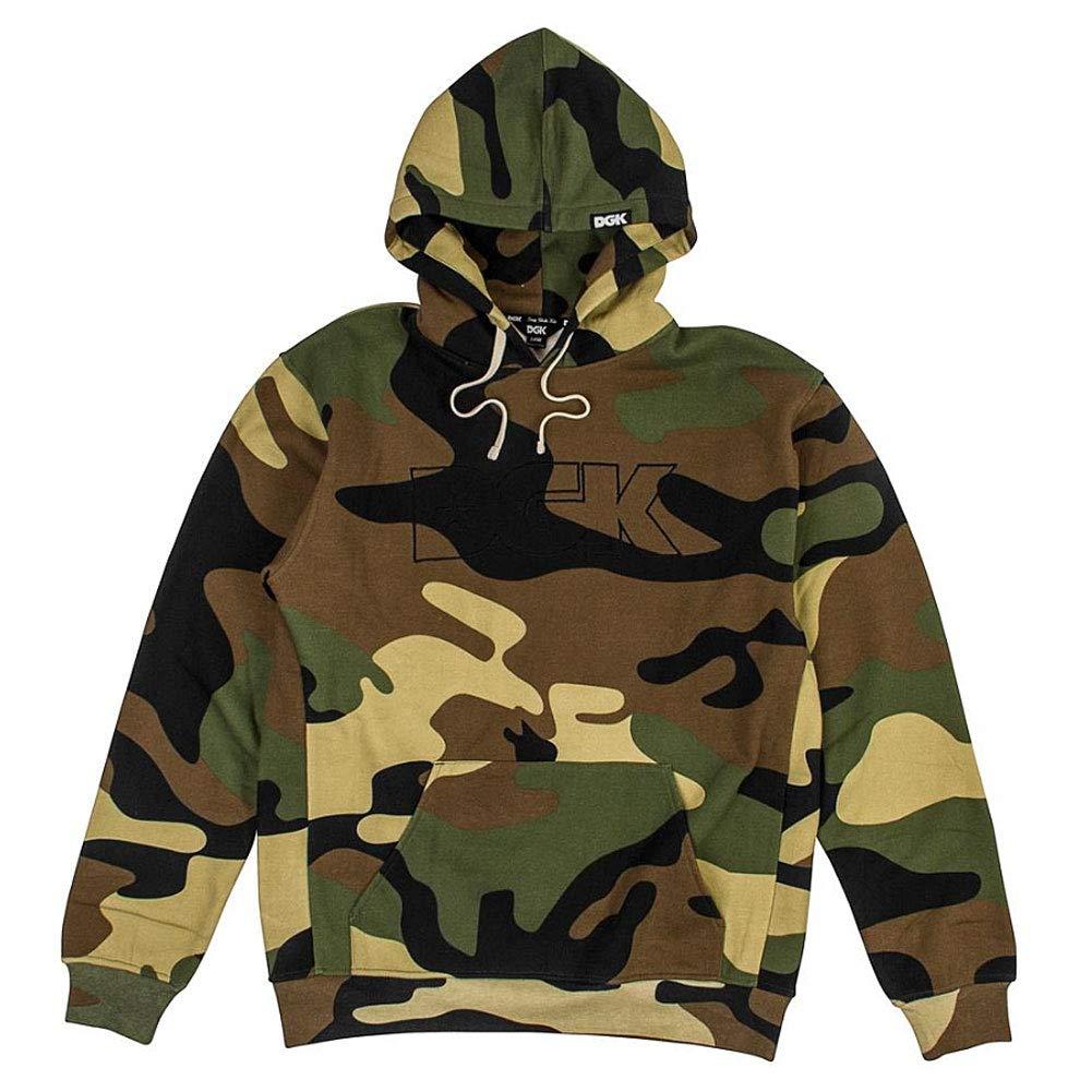 Unbekannt DGK Men's Wayfarer Custom Fleece Hoodie Camo Braun