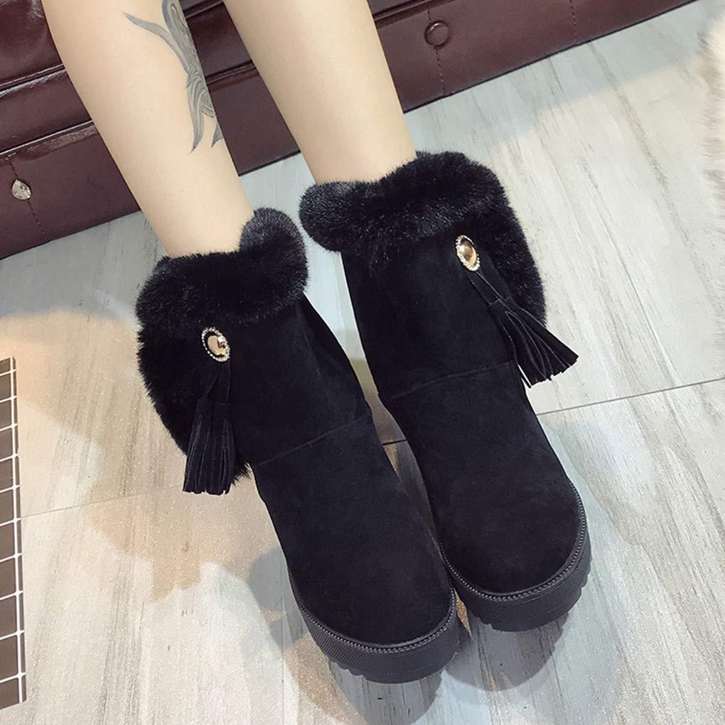 POLLYEDEN Wasserdichte Schnee-Stiefel der der der Frauen für Winter, starker unterer Baumwollstiefel, warme und weiche SAMT-Schnee-Schuhe 4a3f53