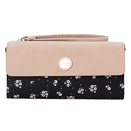 1112f1feb3c Amazon.com: OIDERY Leather Wallets for Women Bifold Floral Ladies ...