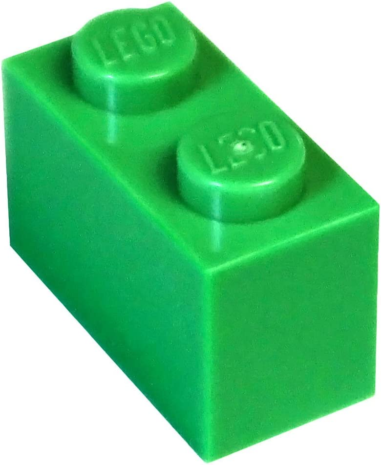 LEGO Parts and Pieces: Bright Green 1x2 Brick x100