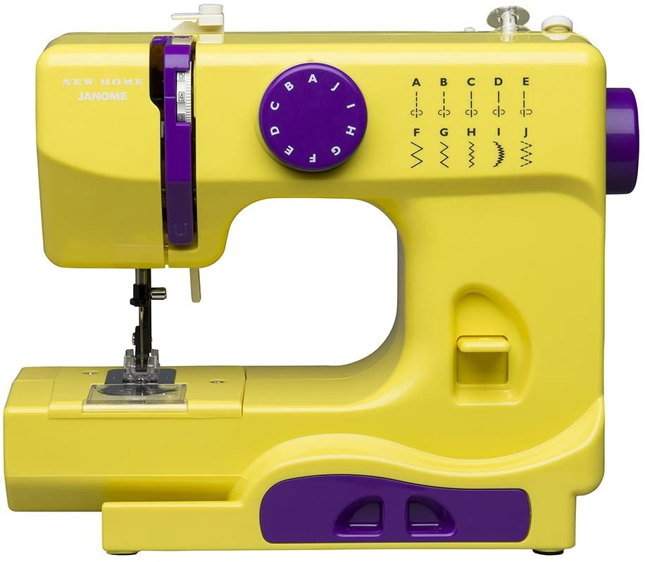Janome 001Graceful máquina de Coser portátil, Gris Elegante ...