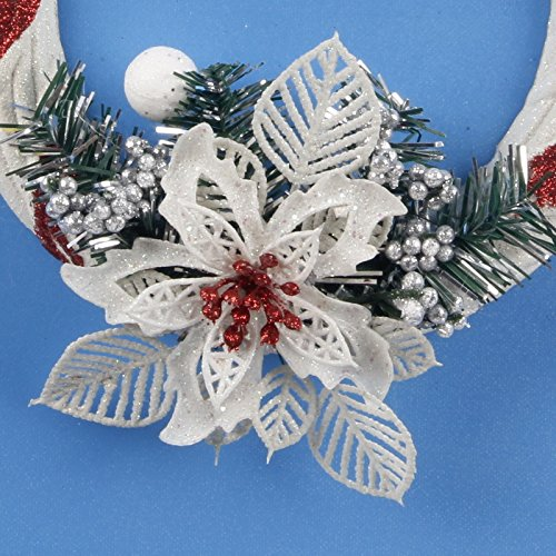 MAZIMARK--Christmas Tree Snowflake Ornament Wall Door Hanging Decor Home Xmas Party Decor