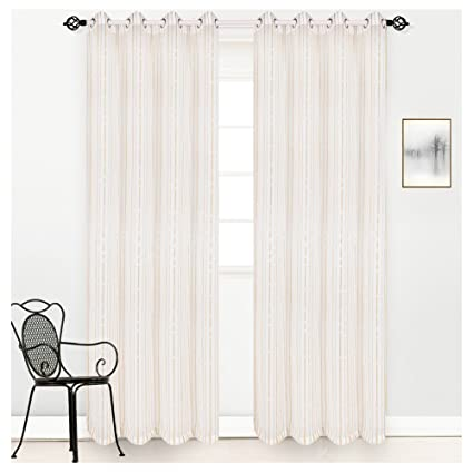 Accept. opinion, Striped white sheer panel curtains seems