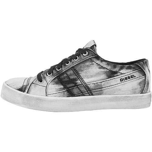 Diesel - Zapatillas de Lona para Mujer, Color Negro, Talla 41 EU: Amazon.es: Zapatos y complementos