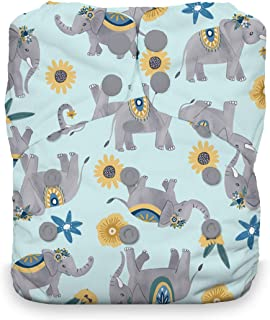 product image for Thirsties Natural One Size All in One Cloth Diaper, Snap Closure, Elefantabulous