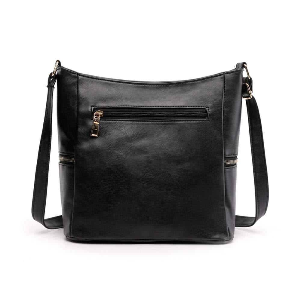 Tassel Women Messenger Handbags Shoulder PU Leather Crossbody Bags brightric Black