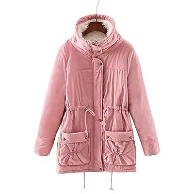 Abrigo de chaqueta con capucha de piel sintética de invierno cálido abrigo  de lana de invierno b93499a44ef9