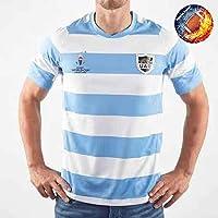 Qinsir Rugby Camiseta Oficial Entrenamiento,Rugby Amisetas De Portero,Rugby World Cup 2019 Argentina Home Shirt Replica Camisetas De Rugby para Hombre