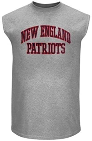 fa490259 New England Patriots NFL Team Apparel Mens Muscle Tee Shirt Gray ...