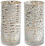 Evora Mercury Glass Candle Holders Set Of 2, TALL, MERCURY GLASS