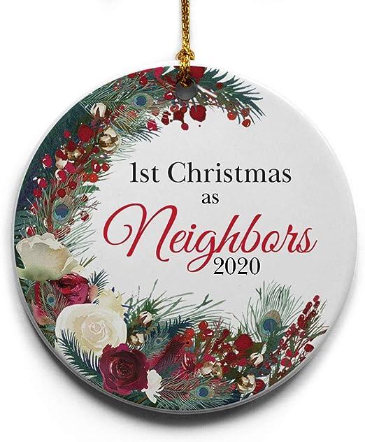 Neighbors Skip A Payment Christmas 2020 Amazon.com: Cedar Crate Market 1st Christmas as Neighbors Wreath