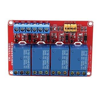 12V Carte dExtension de D/éclenchement de Bas Niveau Module de Relais /à 2 Canaux pour Arduino