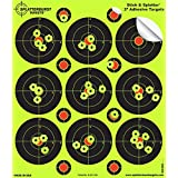 """25 Pack - 3"""" """"Stick & Splatter"""" Self Adhesive SPLATTERBURST Shooting Targets - Instantly See Your Shots Burst Bright Fluorescent Yellow Upon Impact - Great for all firearms, rifles, pistols, AirSoft, BB and Pellet guns!"""