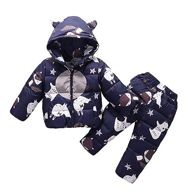 b31fca06fce0 Amazon.com  Wonny Kids Lightweight Hooded Down Jacket + Pants ...