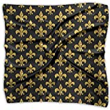 Mardi Gras Golden Women's Fashion Print Square Scarf Neckerchief Headdress S