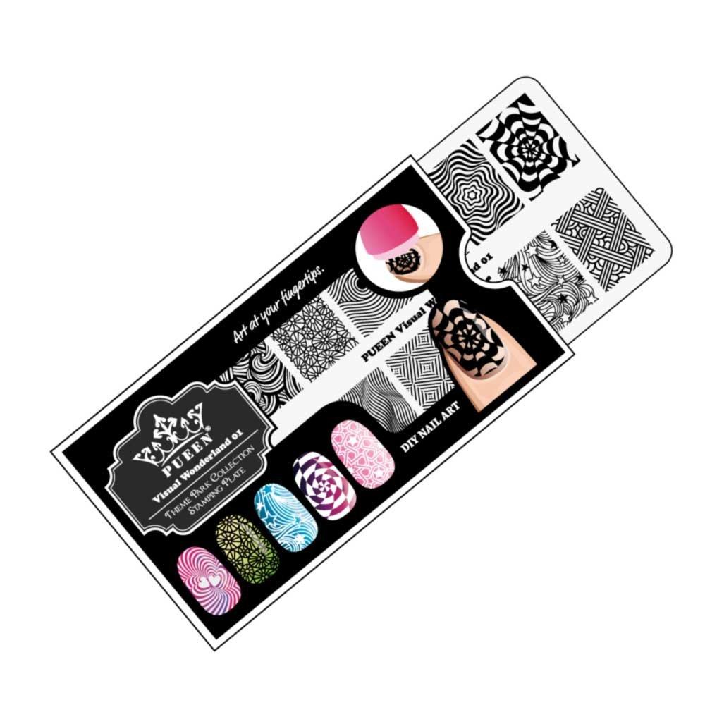 Amazon.com : PUEEN Nail Art Stamping Plate - Secret Garden 01 ...
