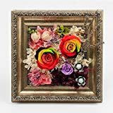 Colorful Rose Eternal Flower Photo Frame/ Ornament Ornaments/ Creative Gift-A