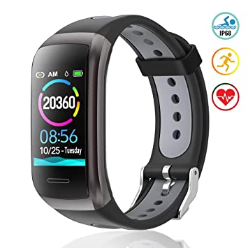 TagoBee TB14 Pulsera Actividad Fitness Trackers IP68 Waterproof Smart Band 1.14 LCD Color Screen Sport Smart Brazalete con Monitor de frecuencia ...