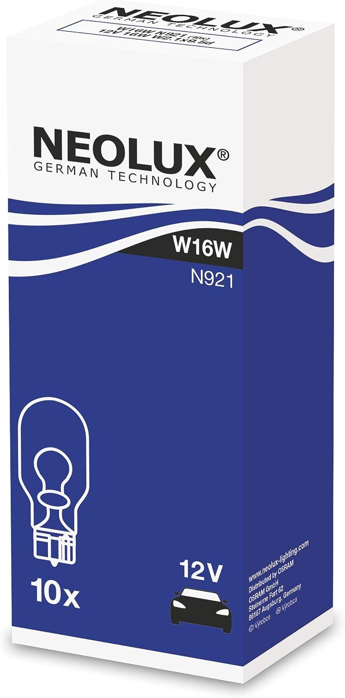 N921 confezione da 10 12V 16W NEOLUX Standard W16W lampada di segnale per auto e moto