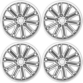 amazon custom accessories 96907 16 inch abs spider painted 61 Ford Thunderbird custom accessories 95101 gt 8 silver charcoal 14 wheel cover set of 4