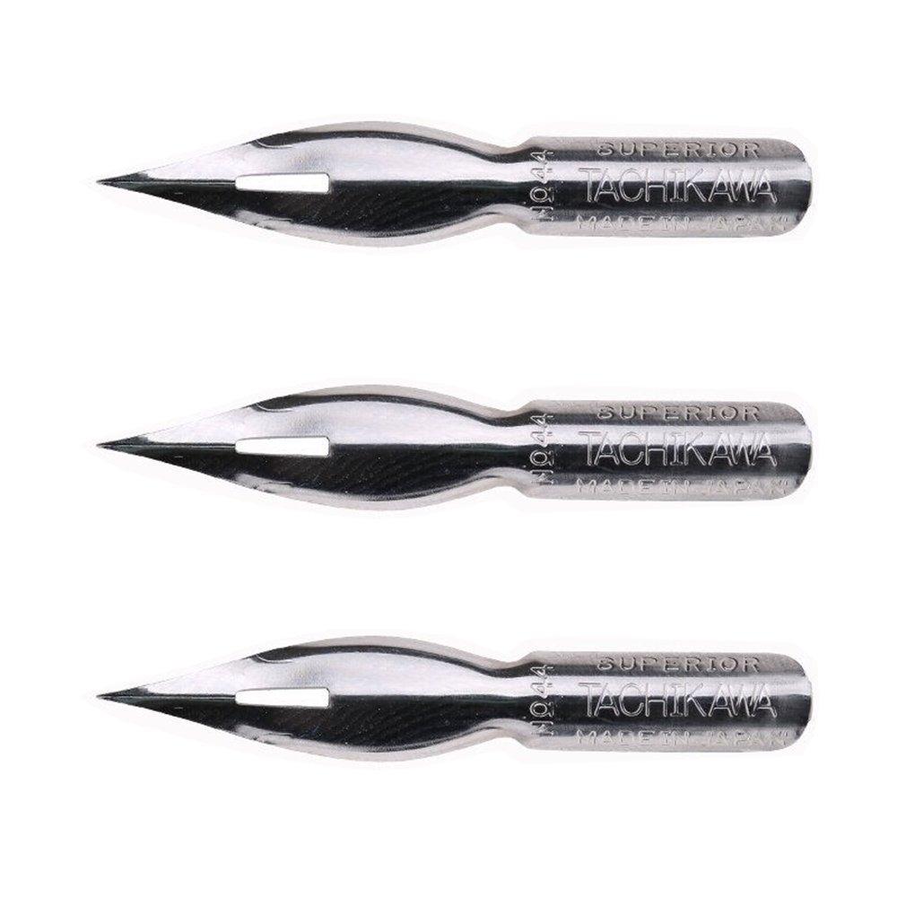 MyLifeUNIT Tachikawa Nipponji Pen, Comic T-44 Nihonji Pen Nib, Pack of 3 OF16L226