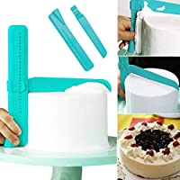 ASAP - Espátula para tartas (ajustable, suave, para fondant, color crema,