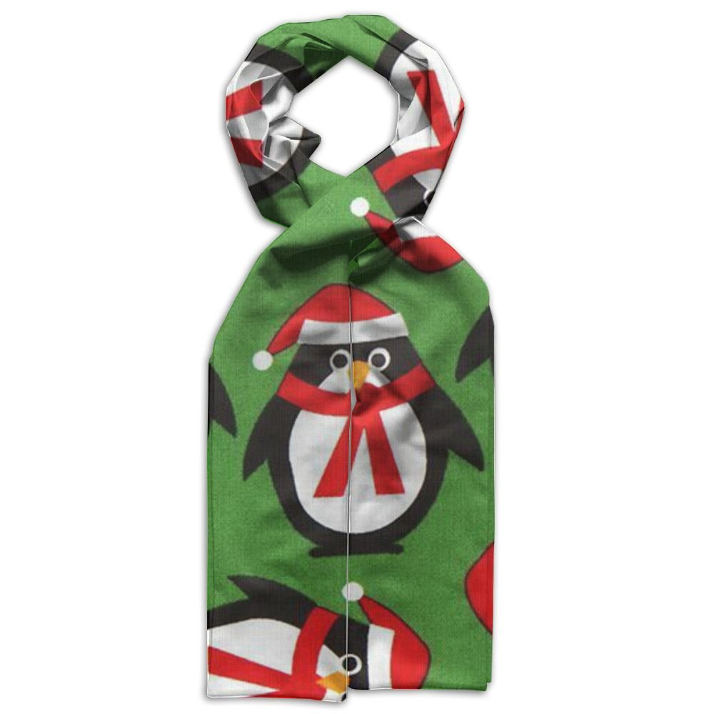 Christmas Penguin Scarf Big Oblong Long Scarves Ethnic Checked Shawl For Coats Maxi For Boy Or Girl In Spring