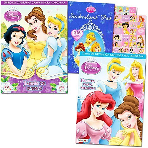 Disney Princess Coloring Book Super Set -- 2 Coloring Books