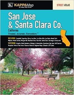 ;;WORK;; San Jose & Santa Clara, CA Street Atlas. partida stock include surface Leccion Festival Angeles Visita